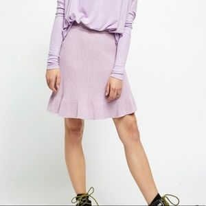 Free People Purple Orchid Knit Skirt